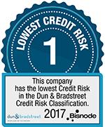 Korkein Dun & Bradstreet -luottoluokitus 2017
