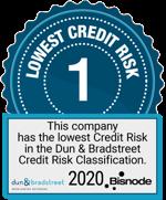 Korkein Dun & Bradstreet -luottoluokitus 2020
