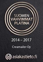 Suomen vahvimmat Platina luottoluokitus 2017 - Asiakastieto