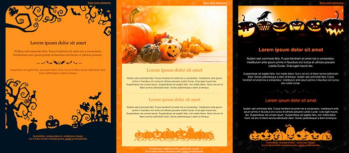 Halloweenin kujeilevat viestipohjat