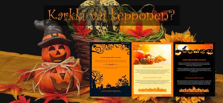 Hurrrjat Halloween-viestipohjat