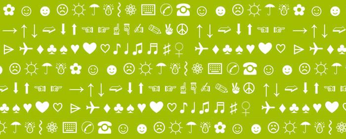 Symbolien käyttö sähköpostin aiheessa