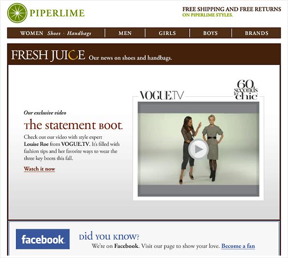 Esimerkki videon linkittämisestä uutiskirjeeseen