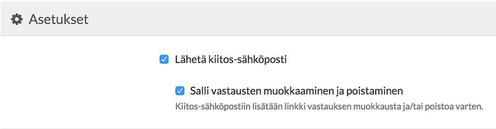 Lähetä kiitos-sähköposti